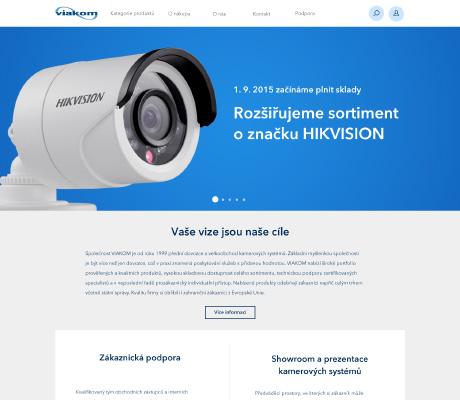 VIAKOM CZ s. r. o. - náhled e-shopu